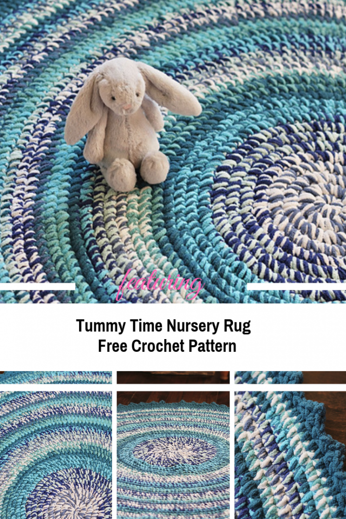 [Free Pattern] Perfect Super Squishy Round Crochet Rug Pattern For Nursery