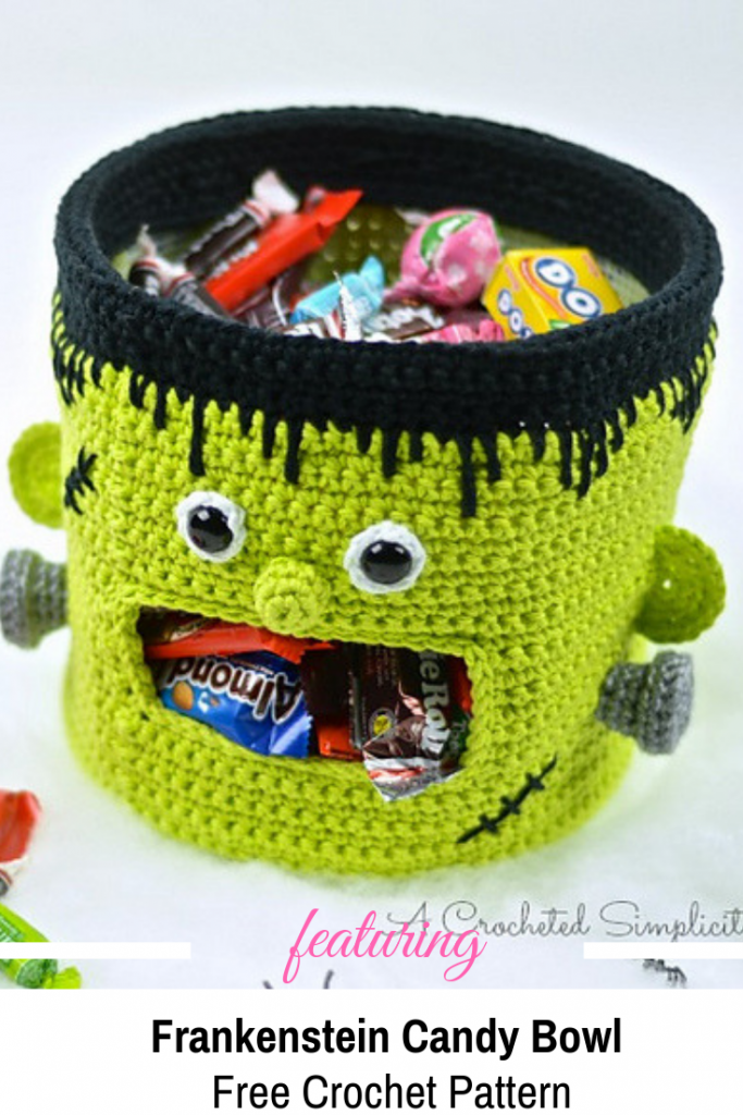 Genius Frankenstein Candy Bowl Crochet Pattern