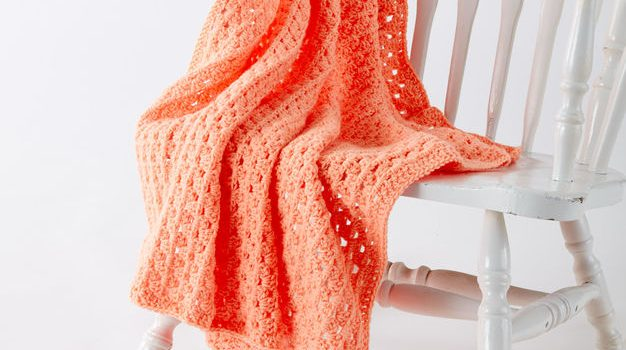 Free Pattern Easy Peasy Crochet Baby Blanket In Caron One Pound