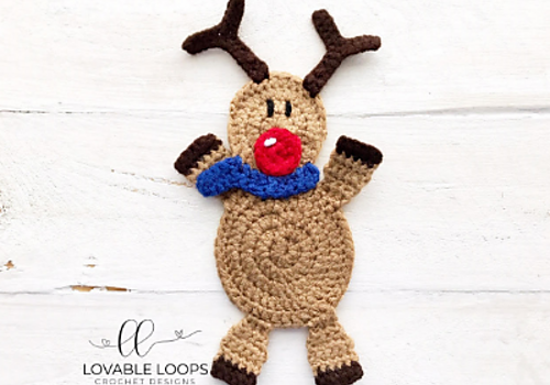 Adorable Crochet Reindeer Applique Pattern - Knit And Crochet Daily