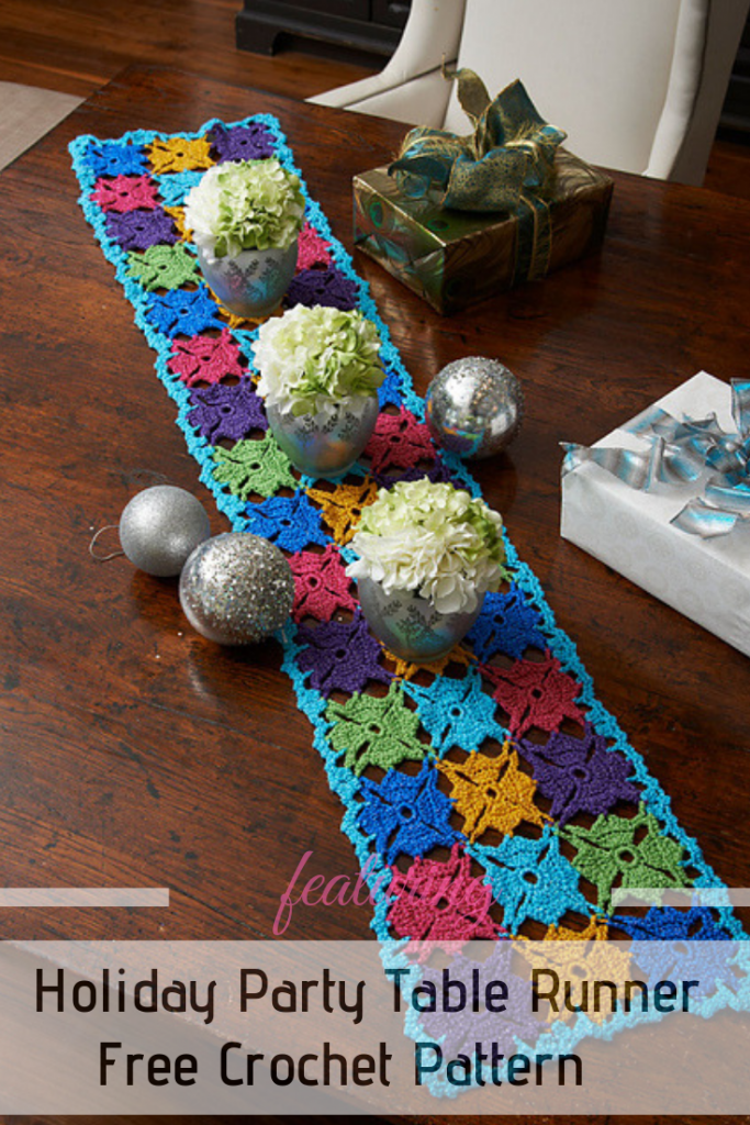 This Crochet Table Runner Free Pattern Is Perfect For The Holiday Party