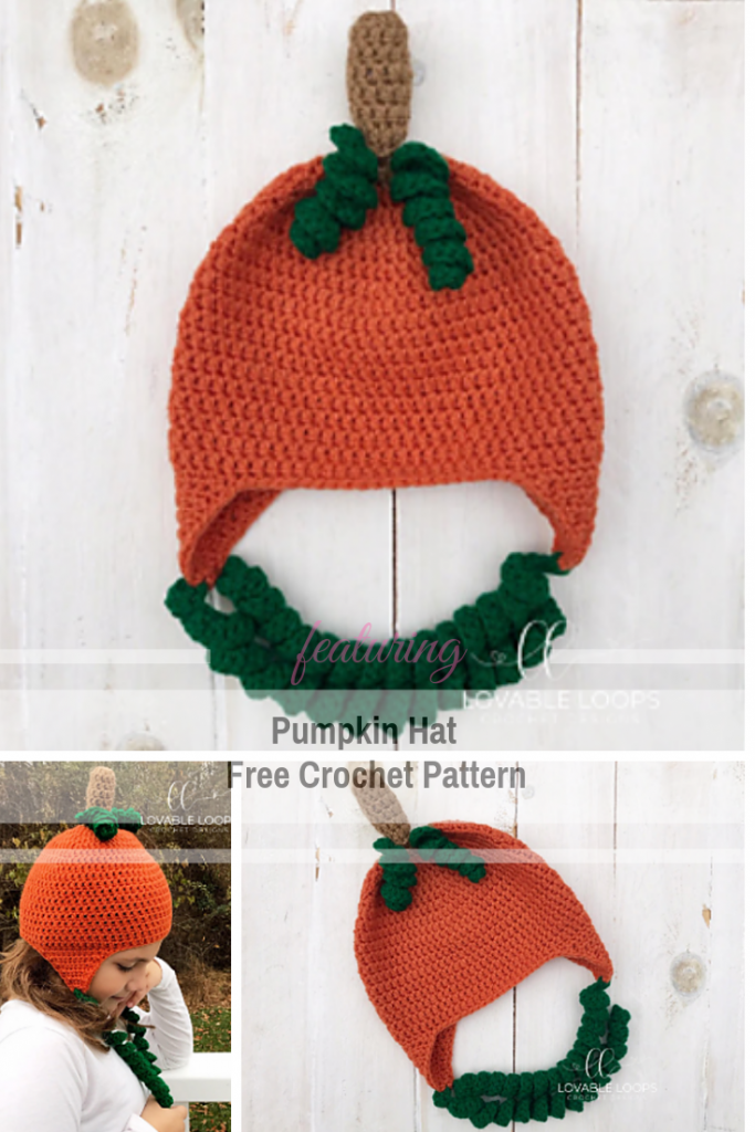 Crochet Pumpkin Hat With Earflaps Free Pattern For Baby, Toddler And Adults