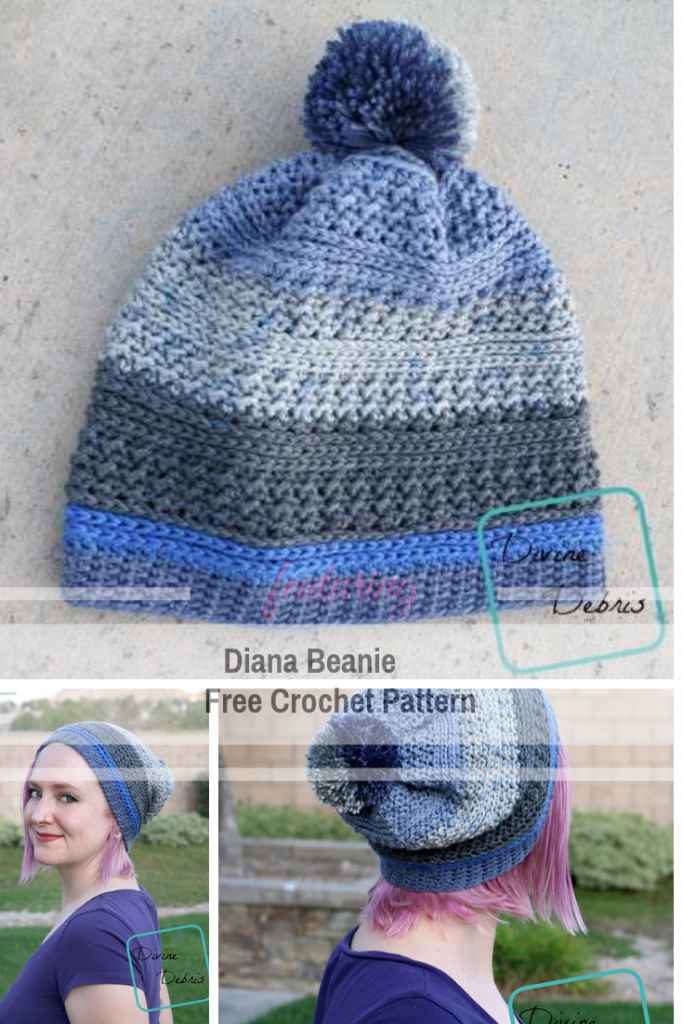 Awesome Diana Beanie Free Crochet Pattern