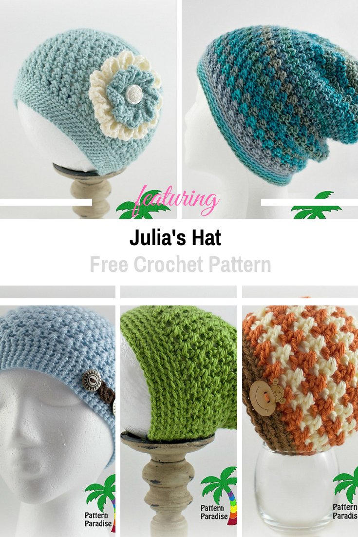 Adorable Crochet X Stitch Hat Pattern