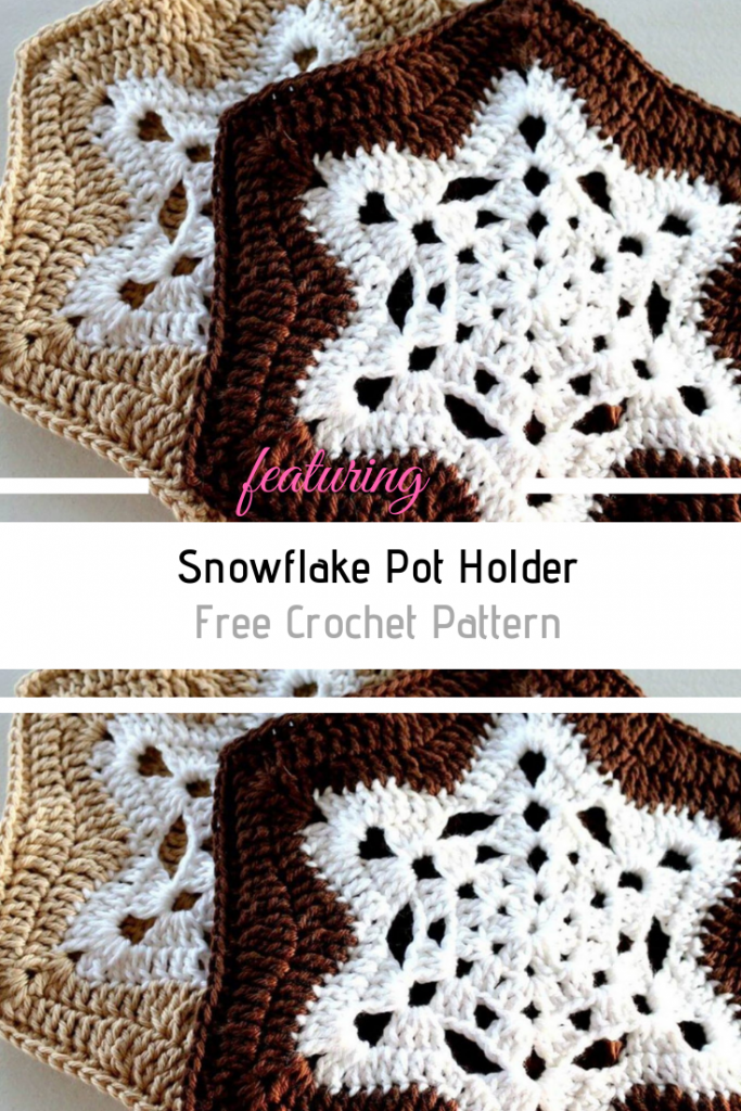 Super Cute Snowflake Potholders To Decorate The Kitchen In The Winter Season