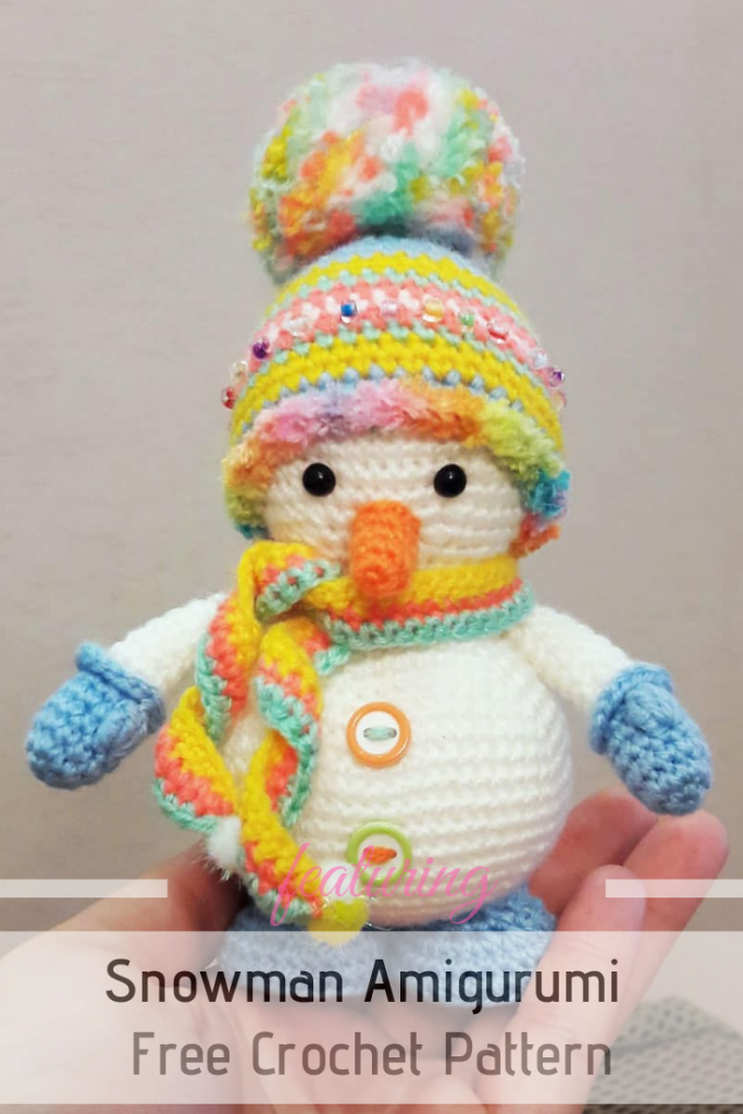 Free Amigurumi Snowman Crochet Pattern Is So Adorable And Very Easy To Make!