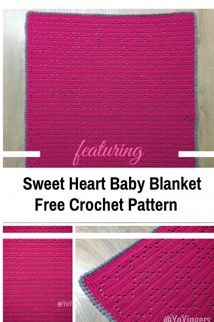 Sweet Heart Crochet Baby Blanket Free Pattern With Lots Of Love For You