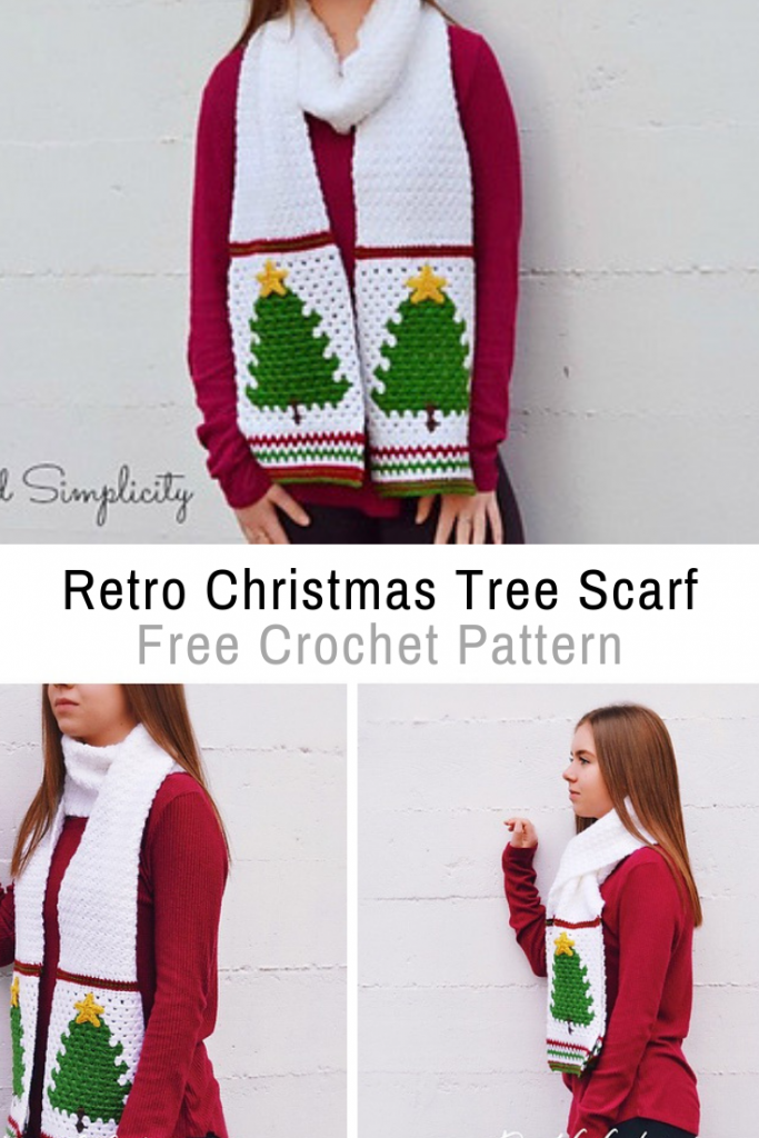 This Free Christmas Scarf Crochet Pattern Is Warm And Festive