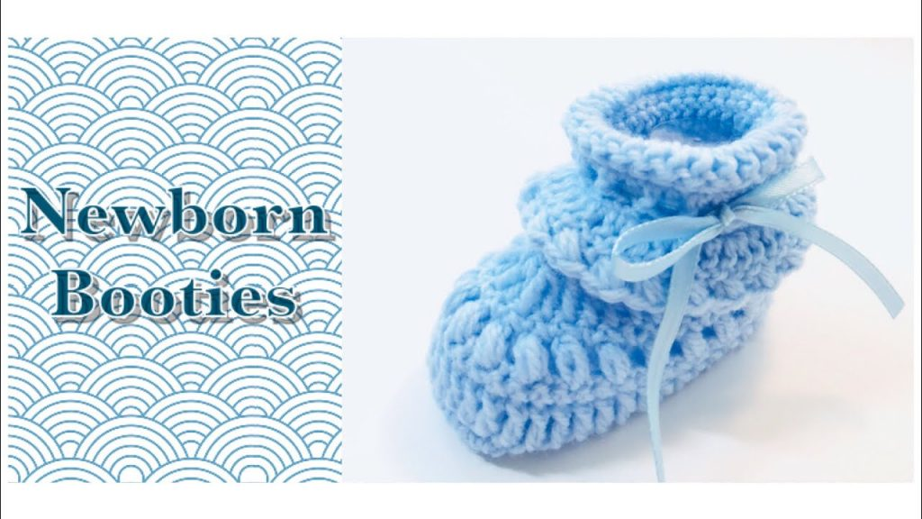 Easy Crochet Newborn Booties