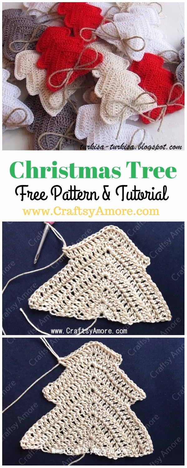 Cute And Easy Free Christmas Tree Ornament Crochet Pattern For The Holiday Season