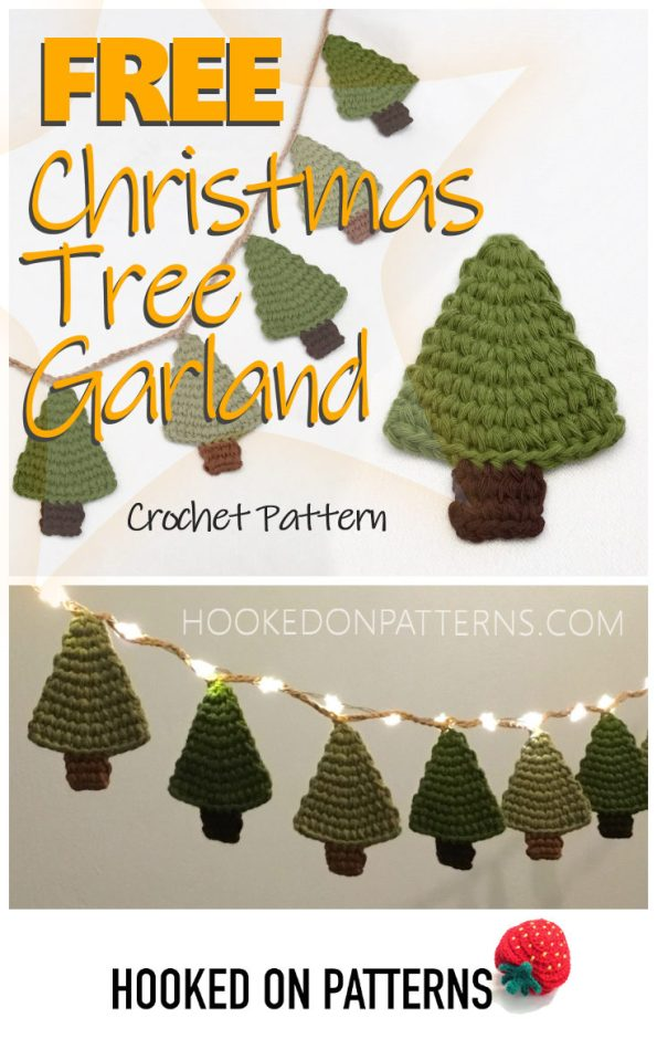 Free Christmas Tree Garland Crochet Pattern To Make The Holiday Even Merrier
