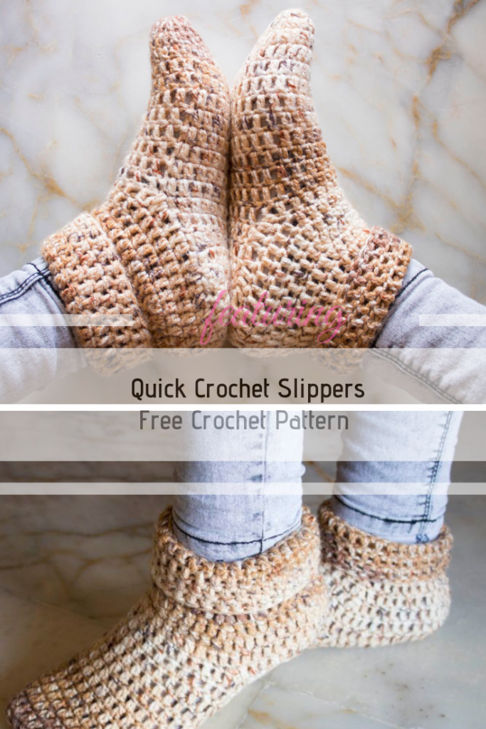 How To Make Quick Crochet Slippers To Keep Your Feet Warm In The Winter