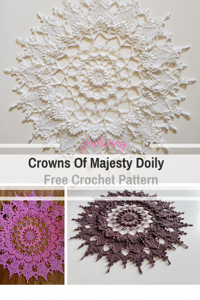 Free Crochet Doily Pattern With A Royal Design