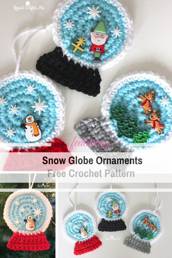 Clever Snow Globe Ornaments Free Pattern