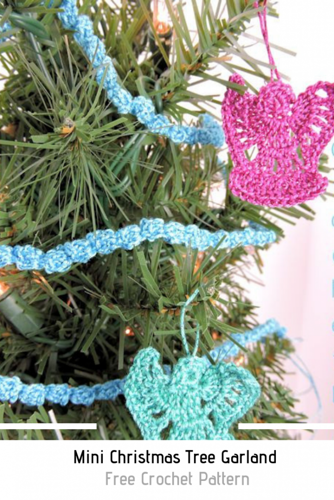 Quick And Easy Crochet Christmas Garland And Angel Ornaments With Free Patterns