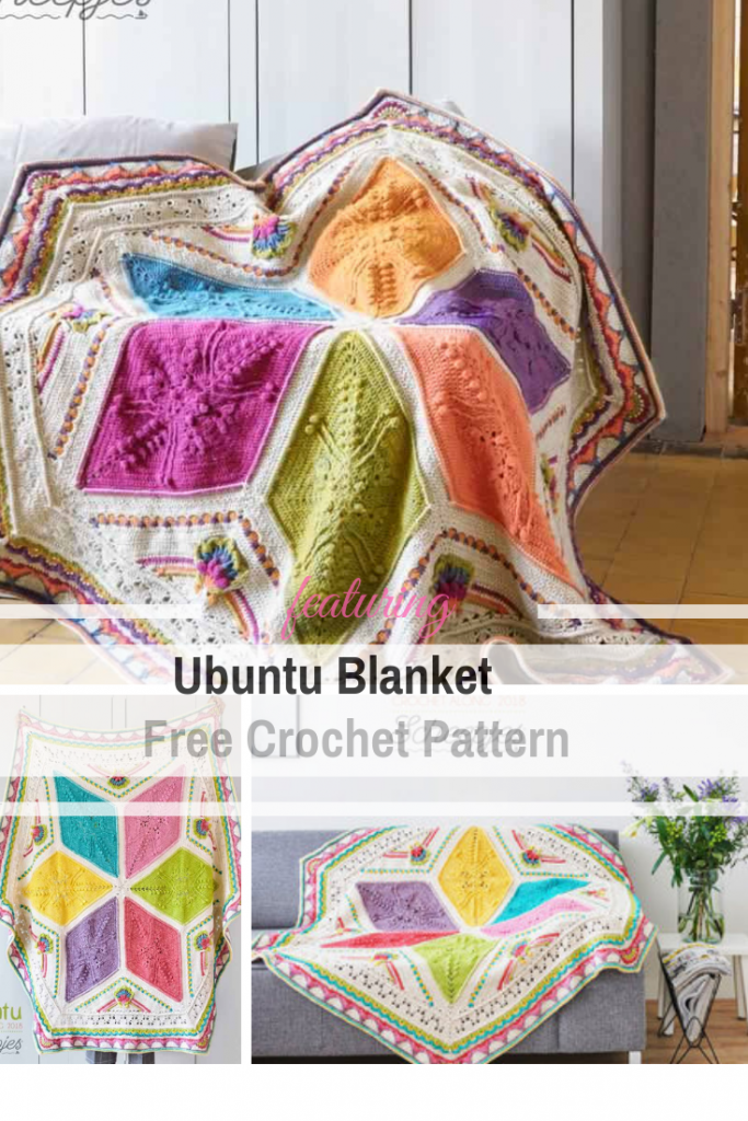 Gorgeous Hexagonal Crochet Blanket Free Pattern