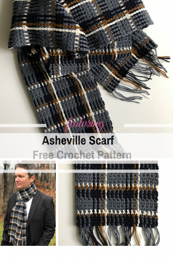 Simple And Beautiful Men's Plaid Scarf Crochet Pattern