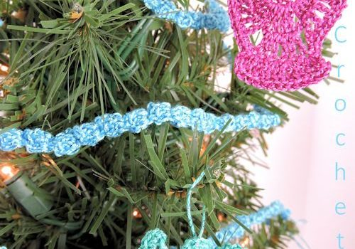 Quick And Easy Crochet Christmas Garland And Angel Ornaments With