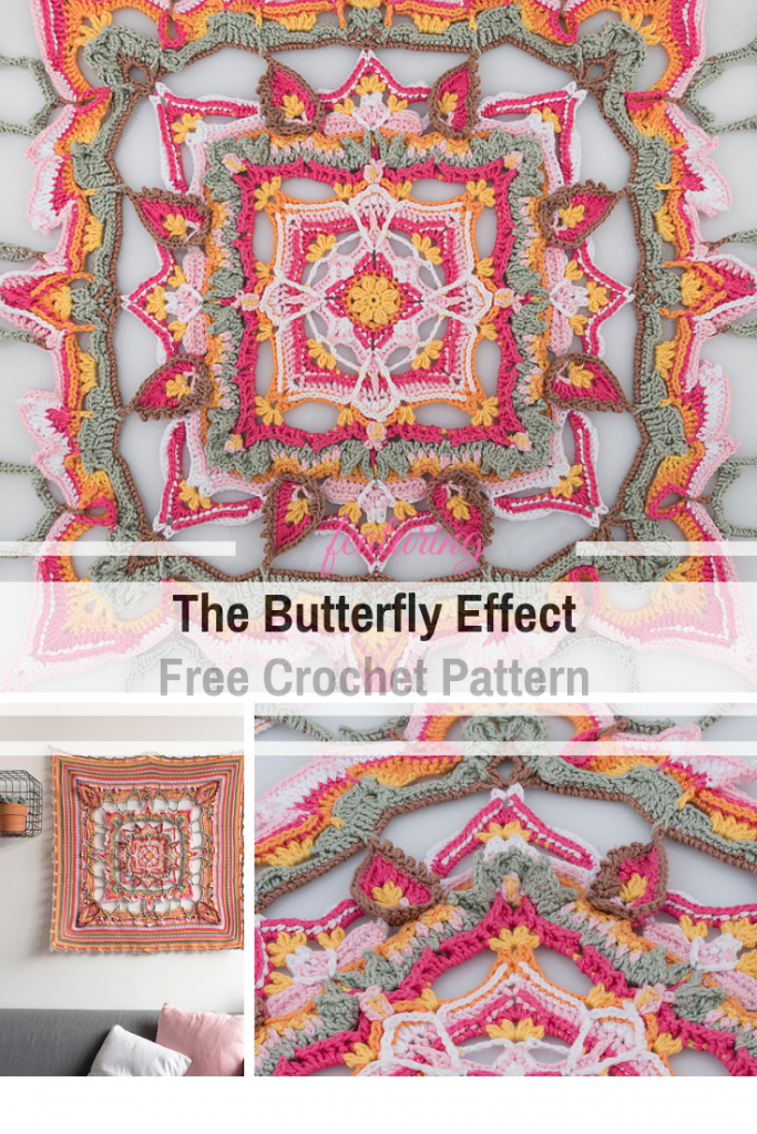 Gorgeous Squared Blanket Free Crochet Pattern