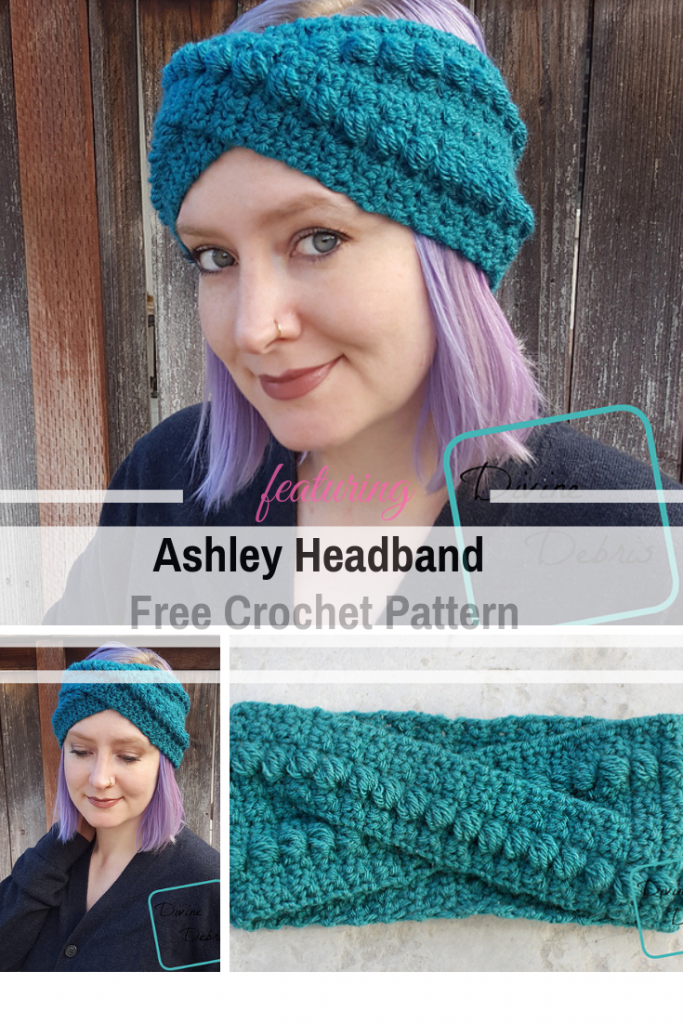 Nicely Textured Twisted Headband Crochet Pattern