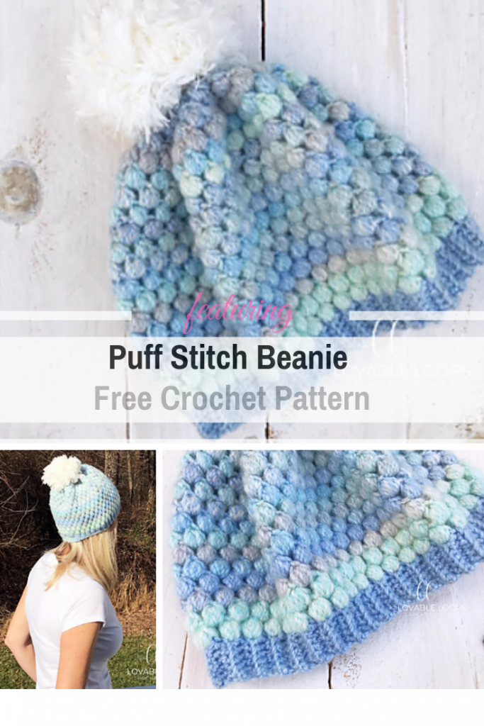 Fun And Quick Puff Stitch Beanie Free Crochet Pattern