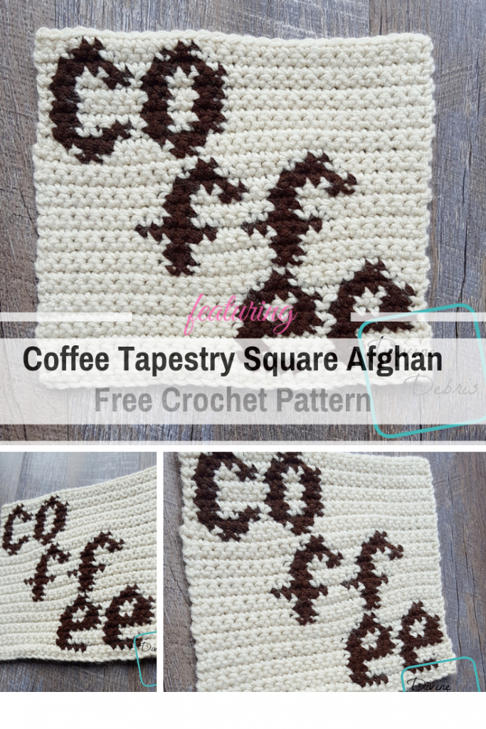Tapestry Crochet Coffee Granny Square Free Pattern