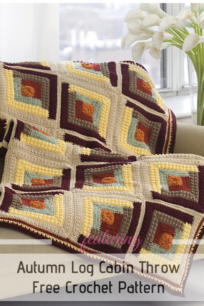 Fabulous And Easy Log Cabin Crochet Pattern To Take On The Go