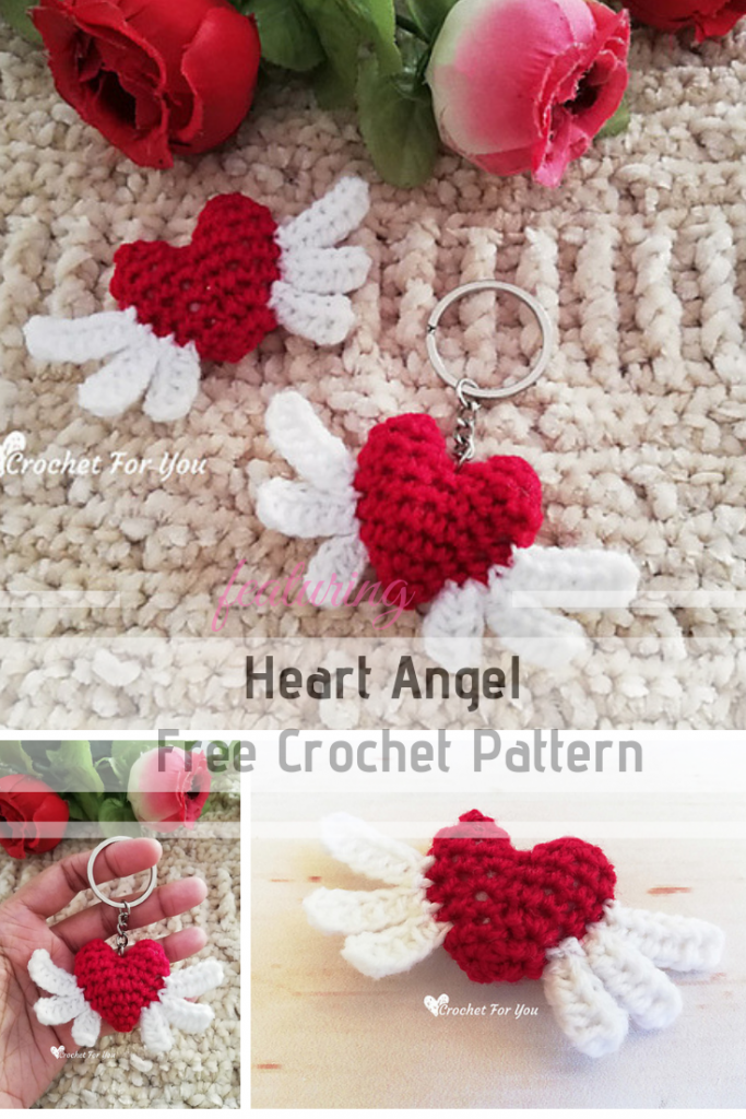 Crochet Heart With Wings Pattern Is A Cute Little Crochet Project For Valentine's Day