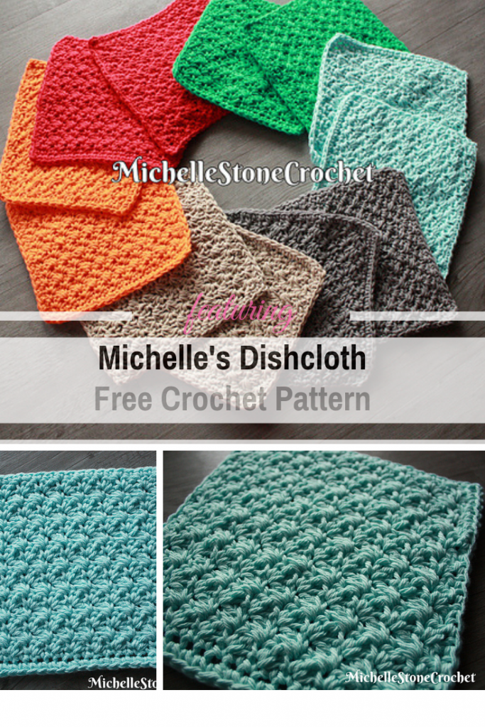 Really Pretty Crochet Dishcloth Free Pattern - Create Stacks Of These Cloths For Gifts!