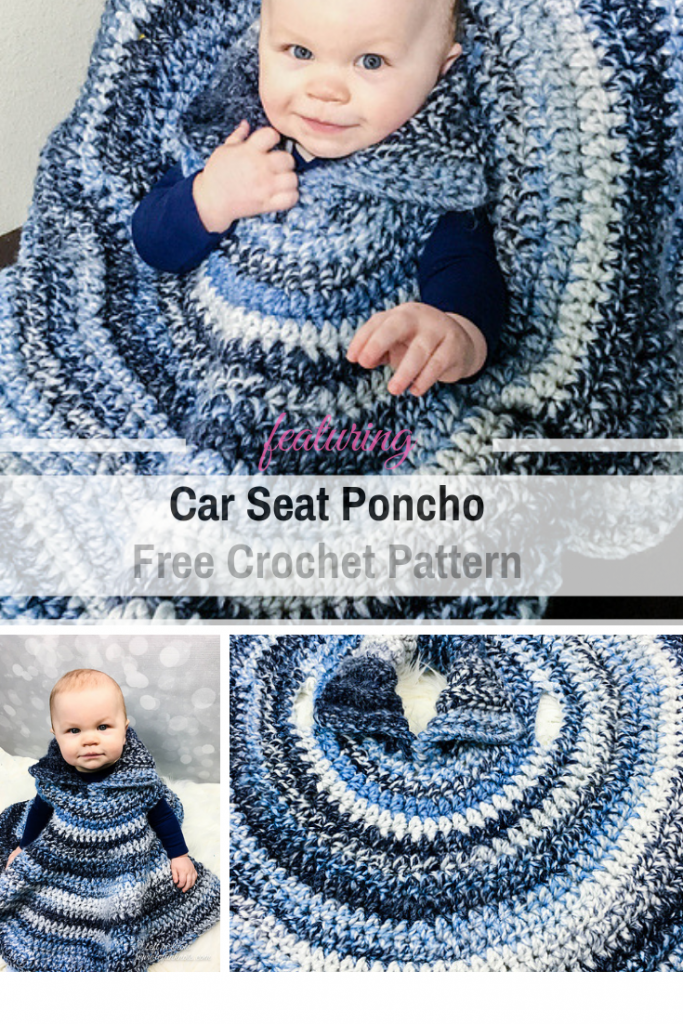Baby Car Seat Poncho Free Crochet Pattern To Keep Your Little Angel