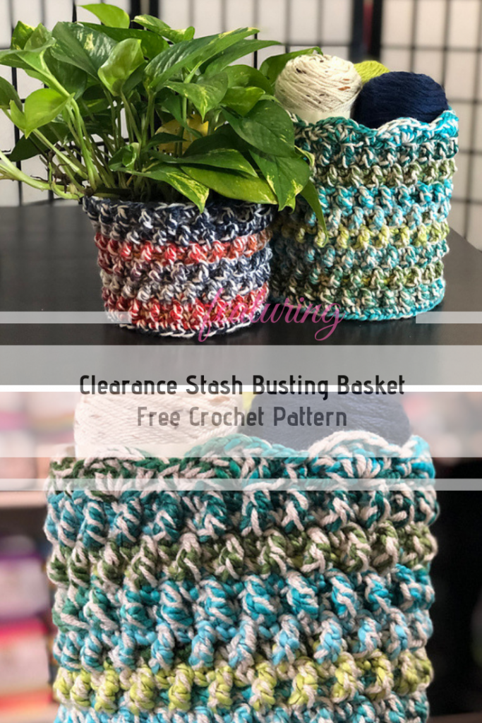 Cute Stash Basket Crochet Pattern To Use For Storage And Decor In Your Home