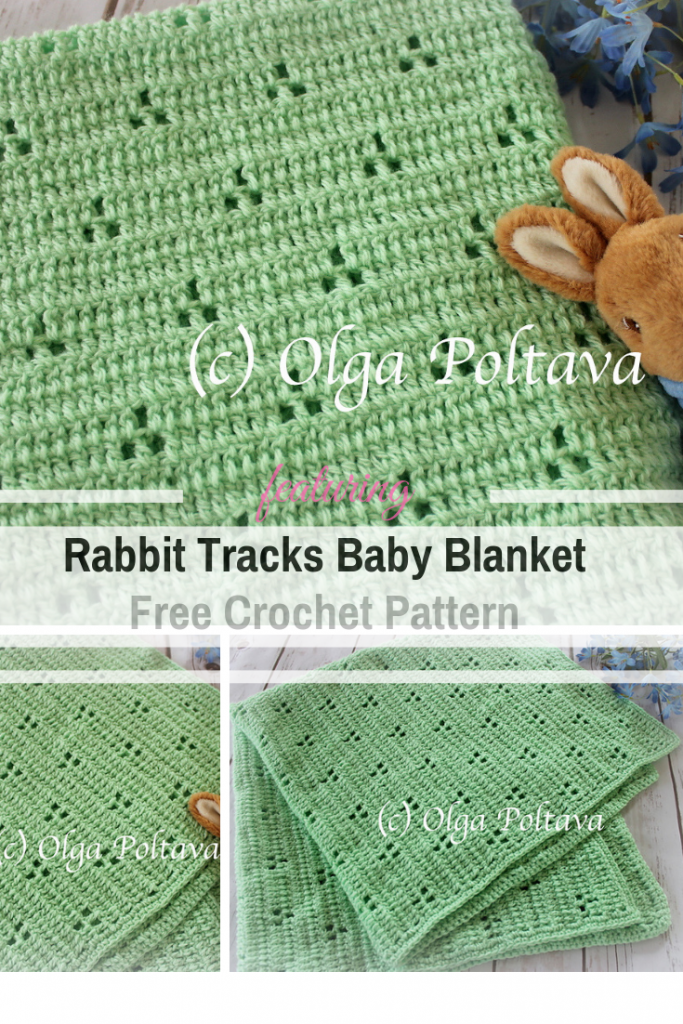 Very Simple And So Pretty Rabbit Tracks Baby Blanket Free Crochet Pattern