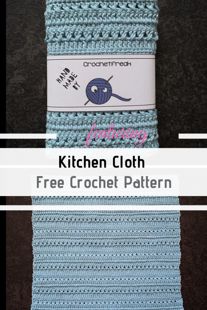 Quick And Easy Kitchen Cloth Free Crochet Pattern