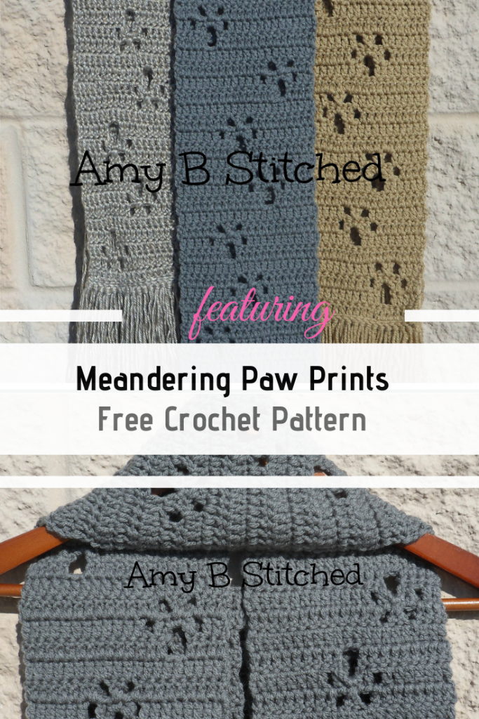 The Meandering Paw Prints Scarf Makes Up Easy And Looks Great