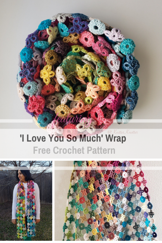Easy XOXO Wrap Free Crochet Pattern With 'I Love You So Much' Message