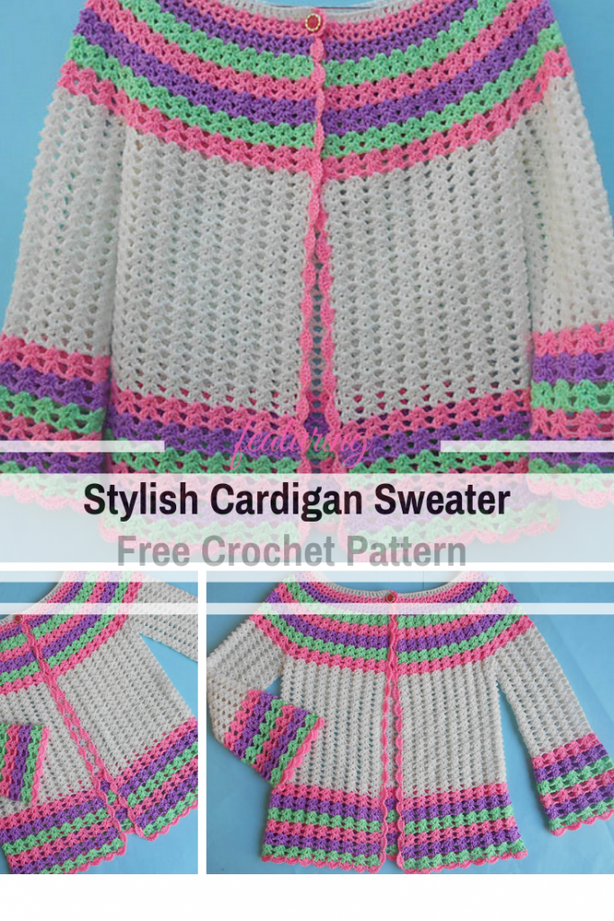 Easy Crochet Sweater Worked In One Piece For Stylish Teenage Girls