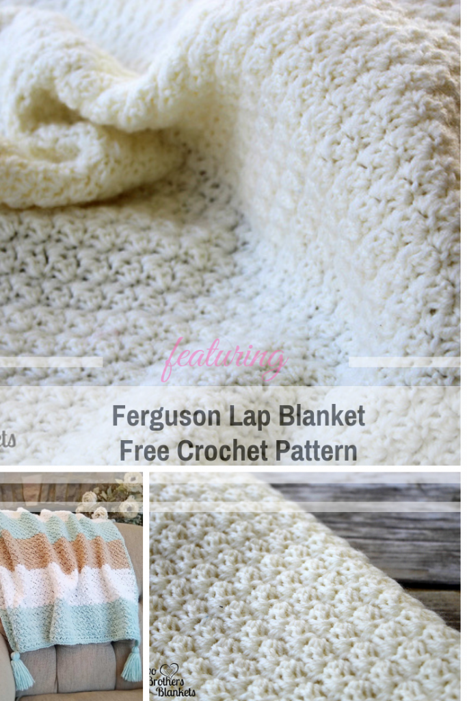 This Crochet Textured Lap Blanket Is A Wonderful Project To Work On In The Car Or While Watching Television