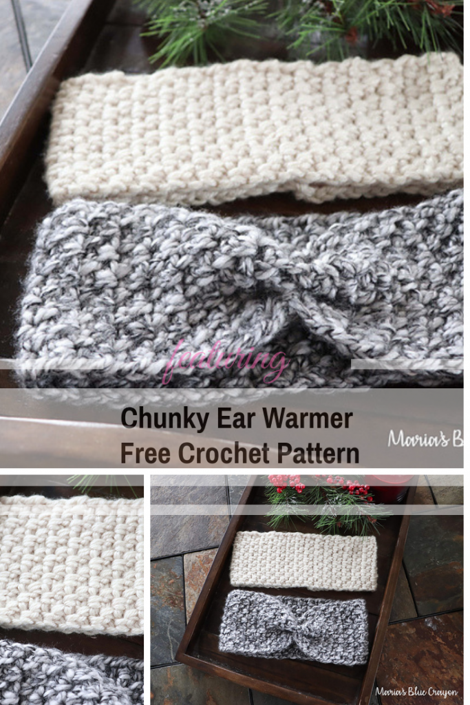 Easy Chunky Ear Warmer Free Patterns