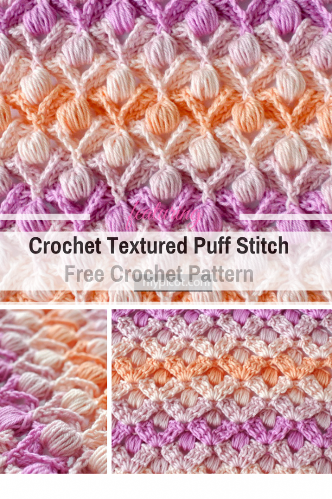 Learn A New Crochet Stitch: Crochet Textured Puff Stitch