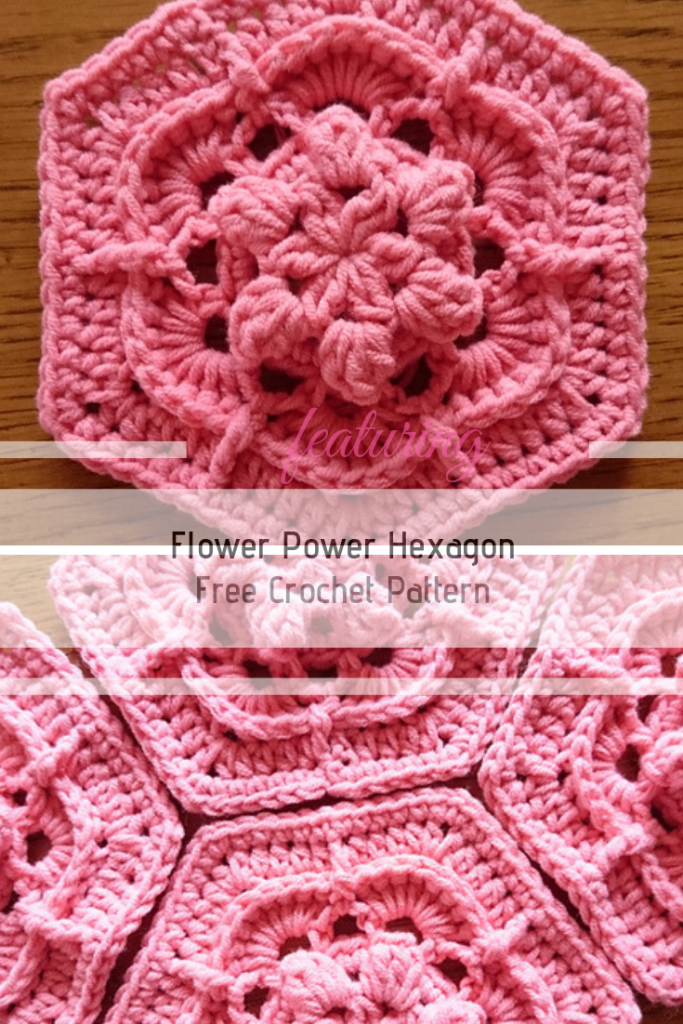 Gorgeous 3D Flower Hexagon Crochet Pattern