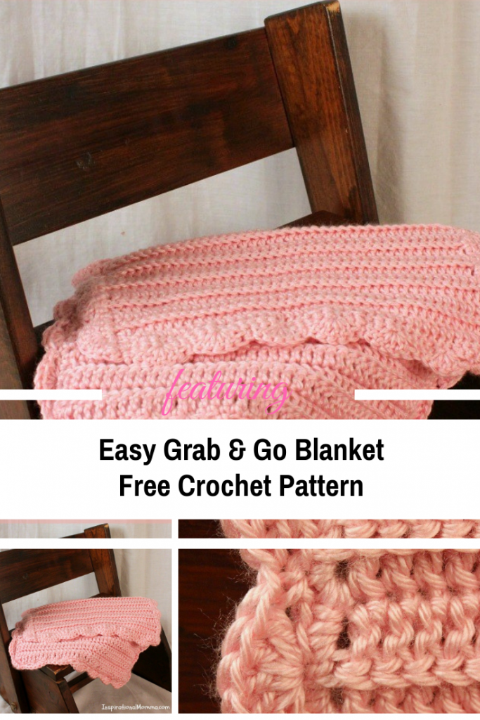 Unbelievably Easy Crochet Blanket For Little Kids On The Go