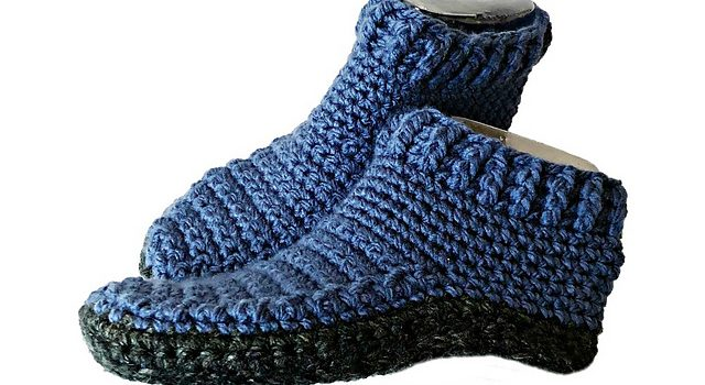 Quick Double Sole Slippers Free Crochet Pattern For Women And Men