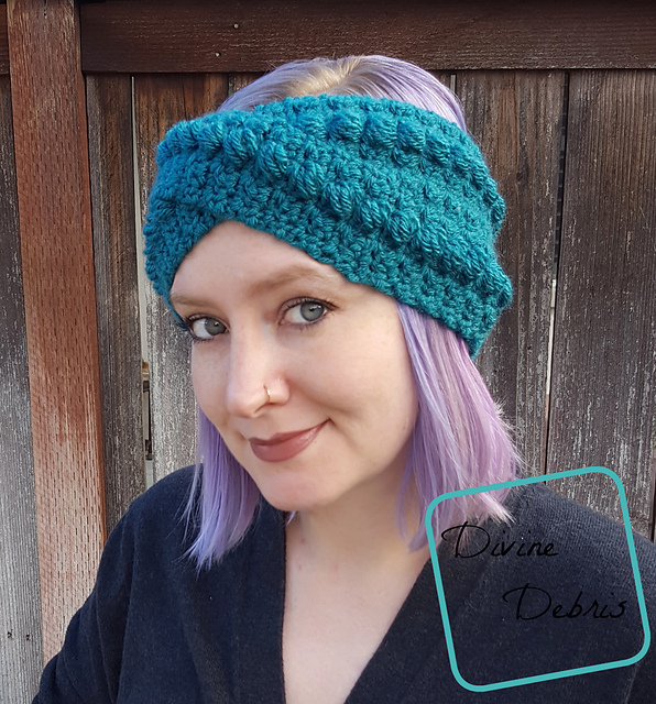 Nicely Textured Twisted Headband Crochet Pattern Knit