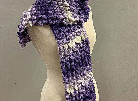 spectacular orchid stitch scarf free crochet pattern