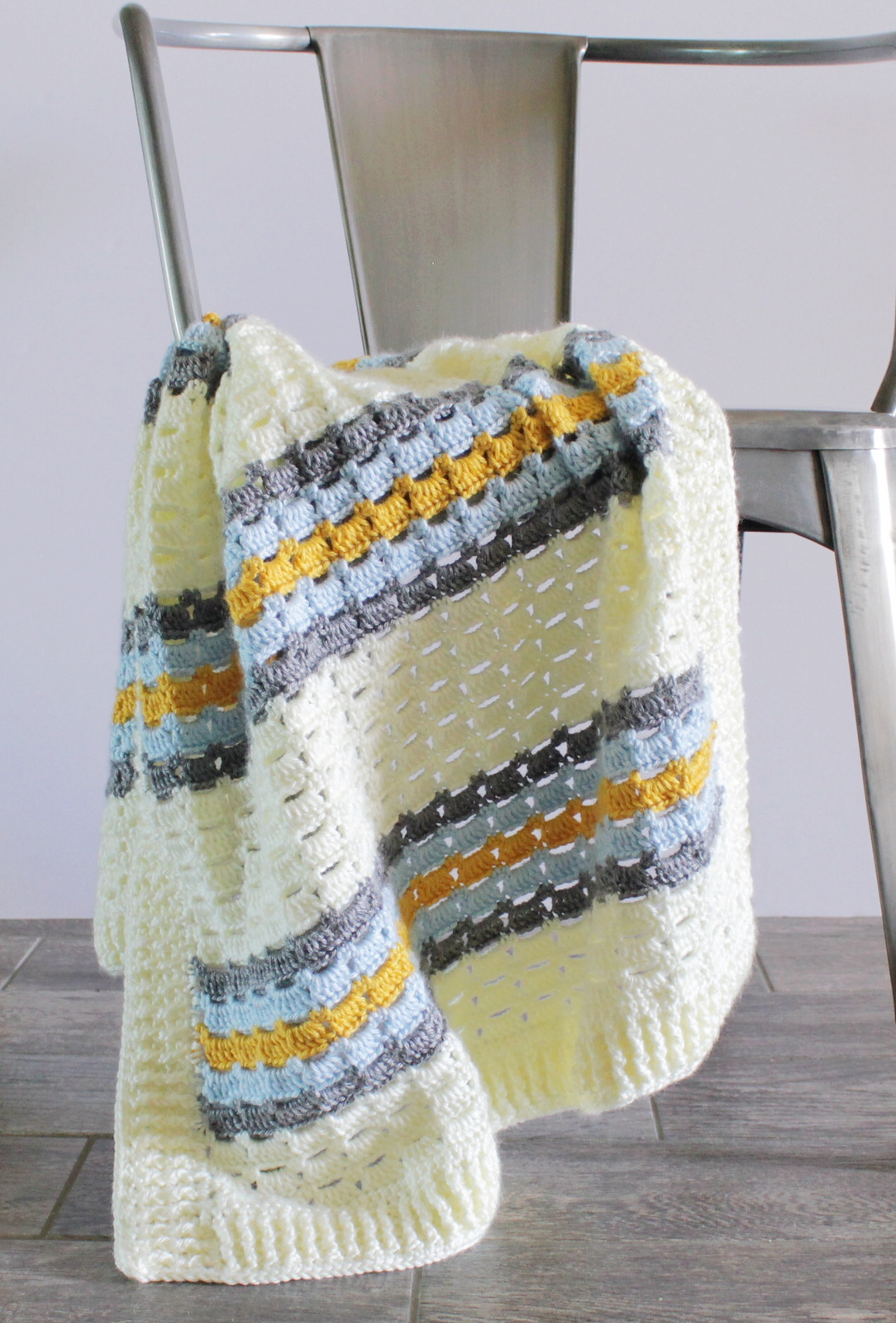 This Pretty Boxed Block Stitch Baby Blanket Will Steal