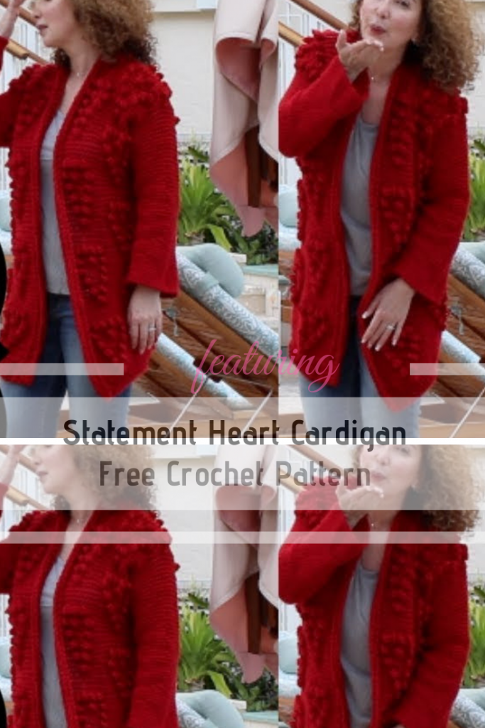 Enhance Any Outfit With This Statement Crochet Heart Cardigan