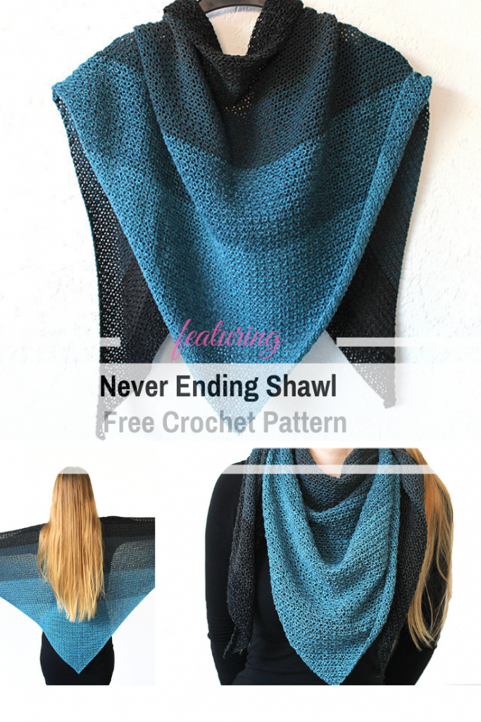 The Simple Triangle Shawl Is A Great Project To Work On While Traveling