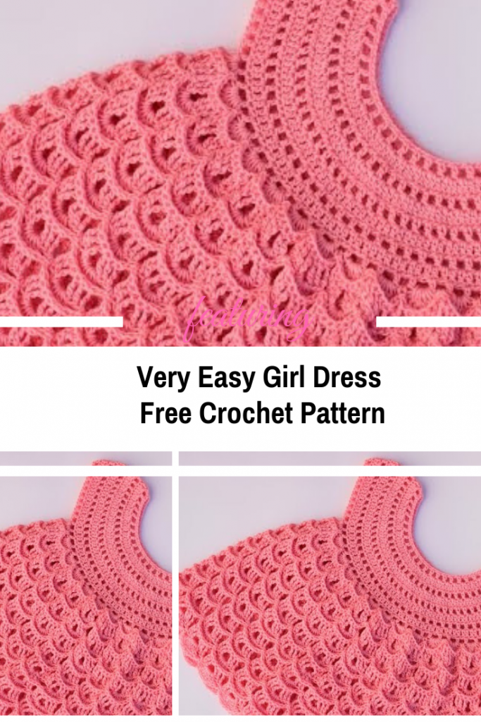 Very Easy Crochet Girl Dress Pattern Knit And Crochet Daily