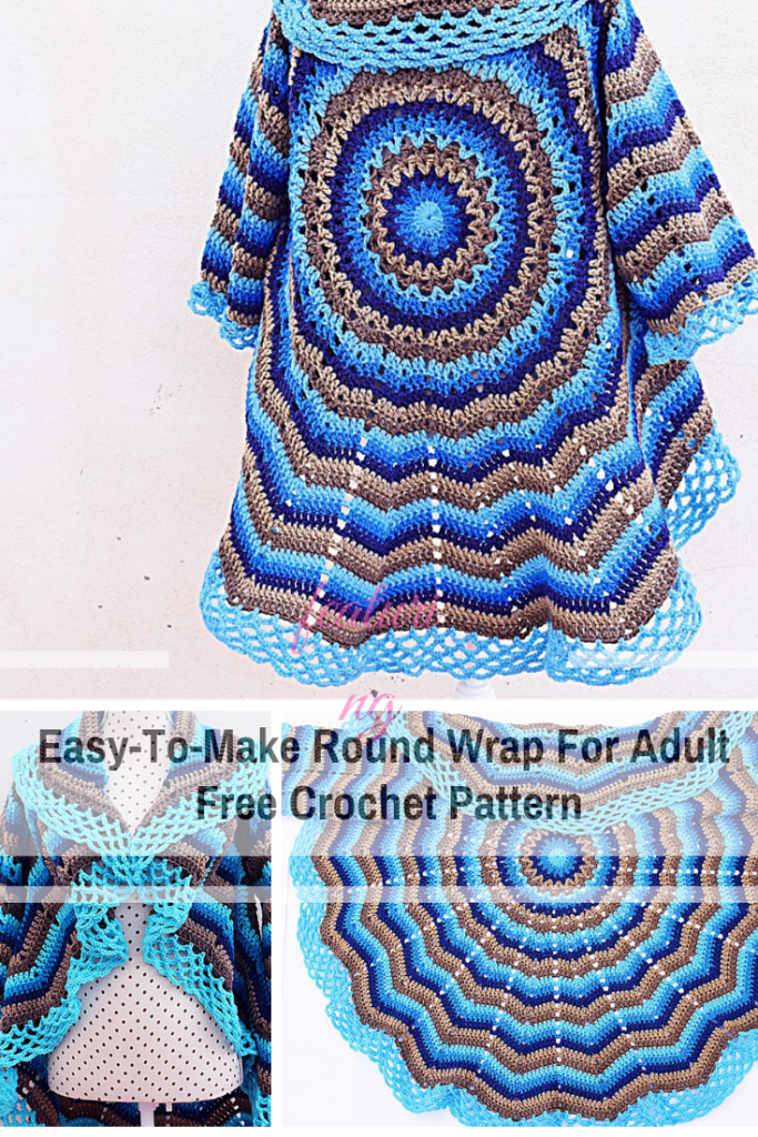 Stunning And Free Crochet Circular Shawl Pattern - Knit And
