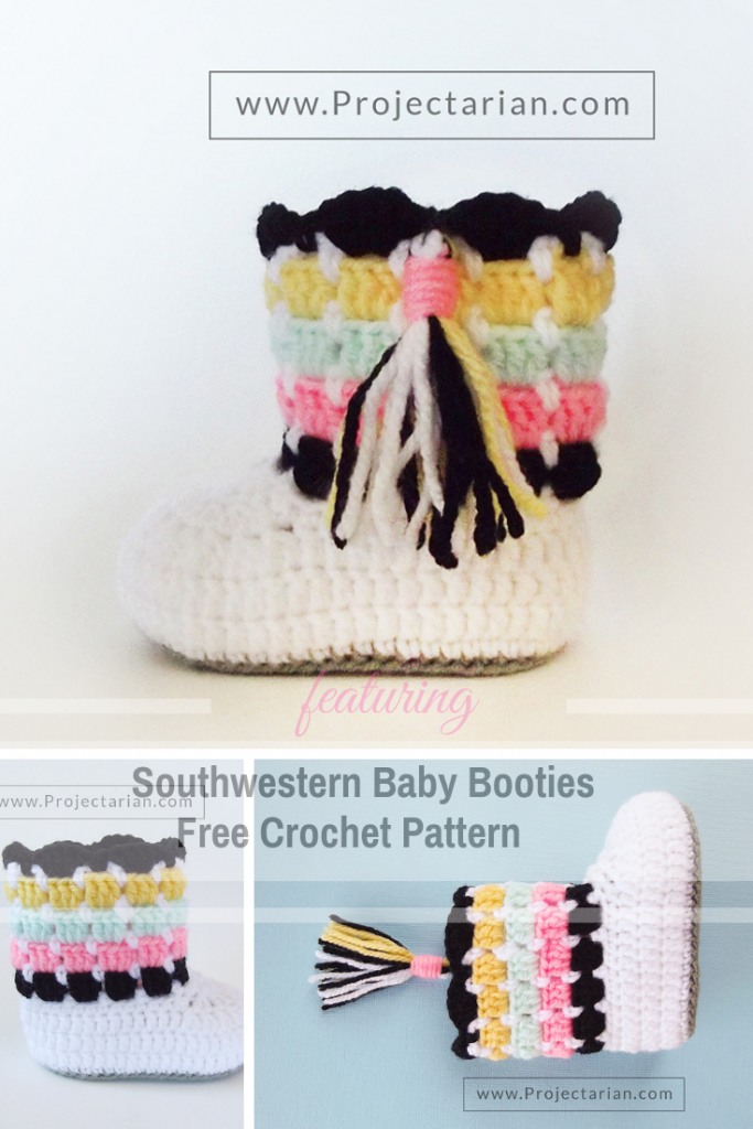 This Adorable Block Stitch Baby Booties Free Crochet Pattern Makes Memorable Baby Shower Gifts